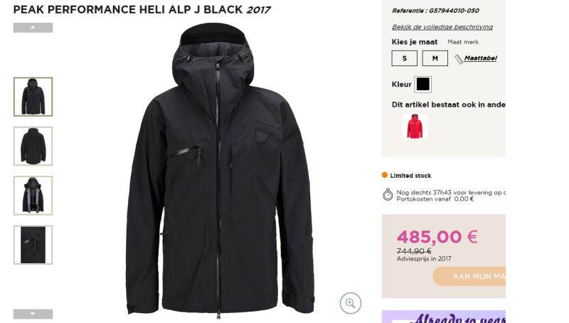 buy popular 63955 84b6a Peak Performance Heli Alp J Black 2017